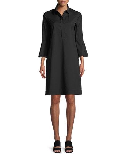 Lunella Stretch-Cotton Shift Dress