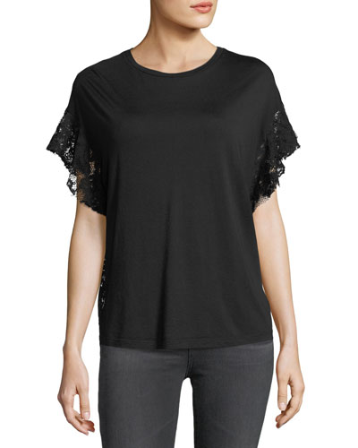 Sofi Crewneck Lace-Back Tee