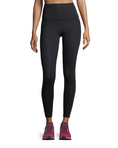 Sheer Illusion High-Waist Midi Performance Leggings