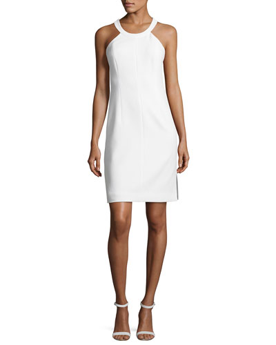 Imogen Cross-Back Ponte Sheath Dress