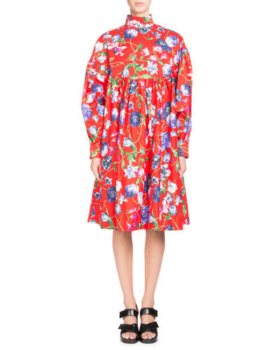 La Collection Memento N°1 Floral-Print Empire Dress