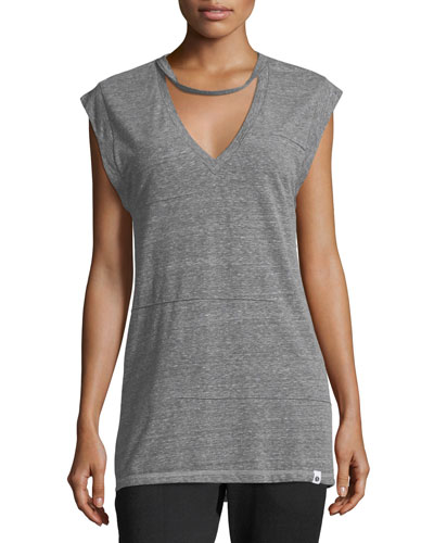 Pacific Pintuck Heathered Performance Tank