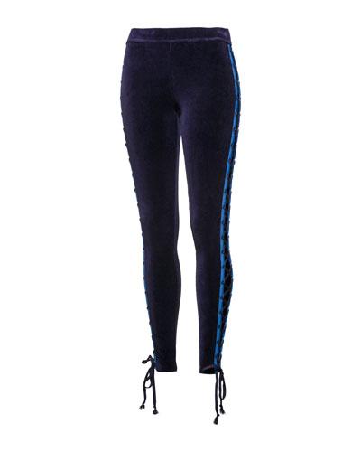 Velour Lacing Pants