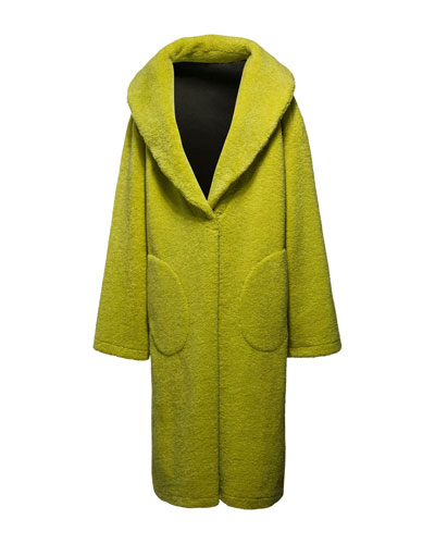 Faux-Shearling Snap Coat