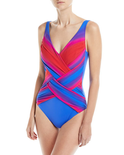 Radiance Surplice Crossover One-Piece Swimsuit