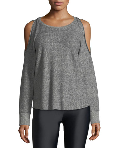Reverse Cutout Pullover Fleece Top