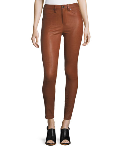 Kate Skinny-Leg Leather Pants