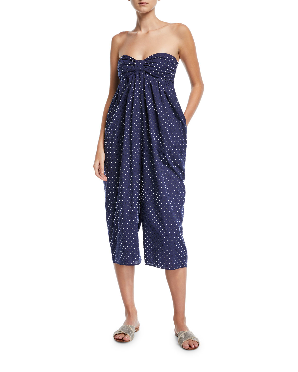 Leo Corillo Strapless Jumpsuit Coverup