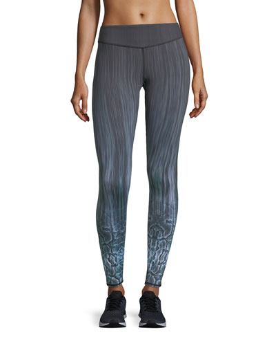 Reversible Printed Full-Length Performance Leggings