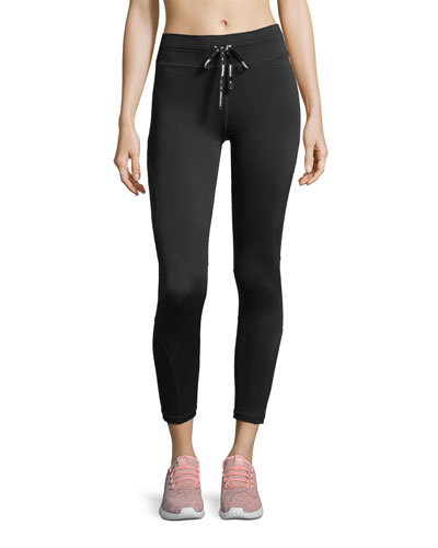 Drawstring Compression Midi Pants