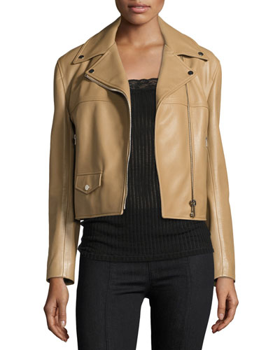 Classic Leather Moto Biker Jacket