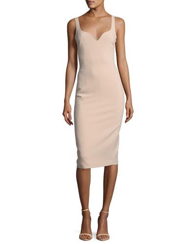 Nevyn Sleeveless Scuba Fitted Bustier Dress
