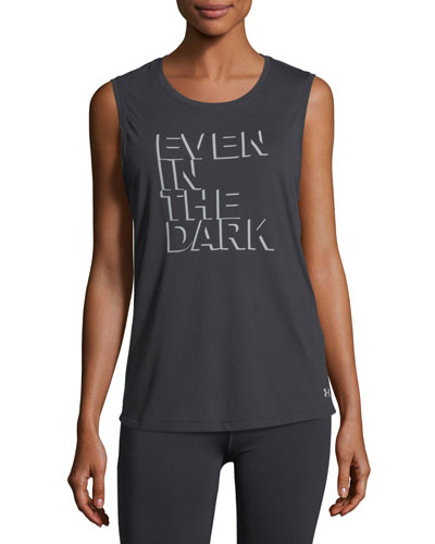 Even in The Dark Graphic Muscle Tank Top