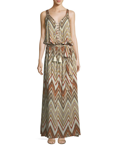 Jacquie Tie-Front Zigzag Coverup Dress