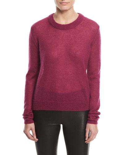 Rosalie Alpaca-Blend Crewneck Sweater