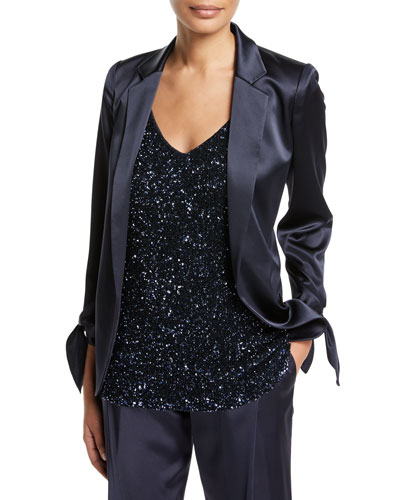 Bria Satin Blazer Jacket