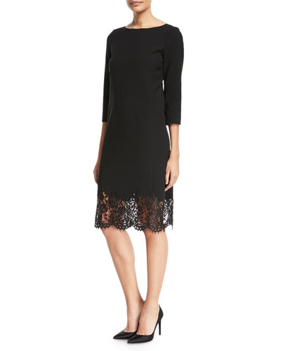 Mya Lace-Hem Dress