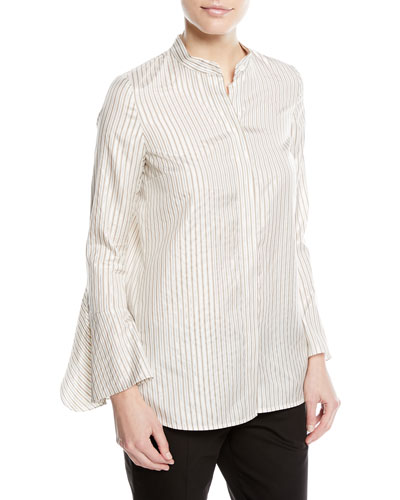 Graydon Striped Silk-Blend Blouse