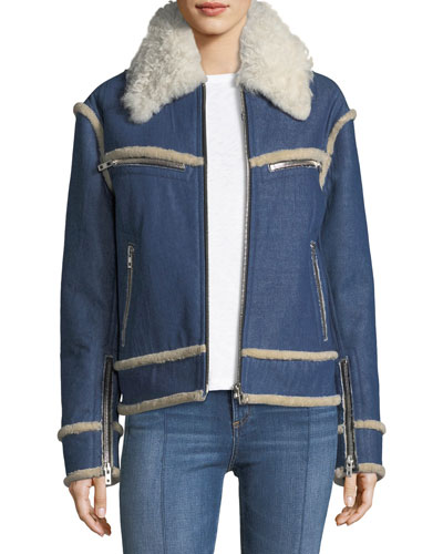 Andrew Shearling and Denim Jacket