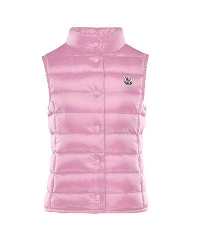 Liane Down Lightweight Down Puffer Vest, Pink, Size 4-6