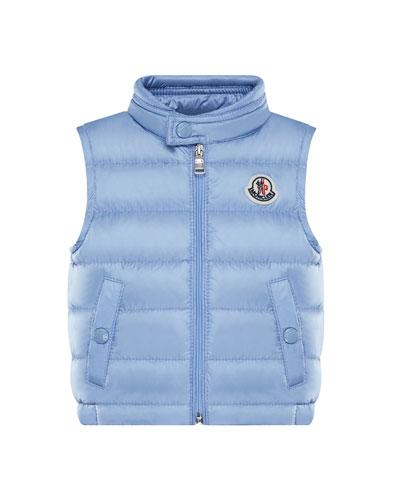 New Amaury Puffer Vest, Medium Blue, Size 12M-3Y