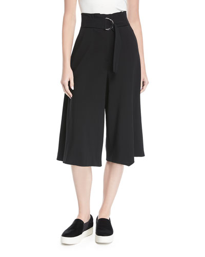 Jayden High-Waist Wide-Leg Crepe Pants