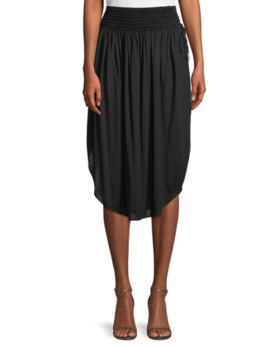 Ruched Knee-Length Skirt
