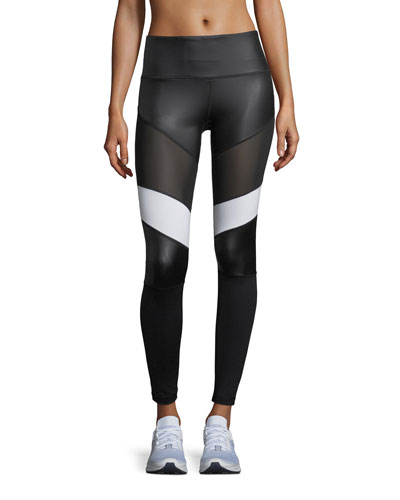Adagio High-Waist Performance Leggings with Mesh