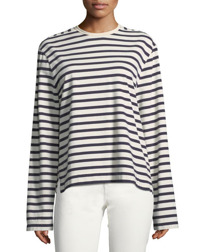 Striped Long-Sleeve Breton T-Shirt