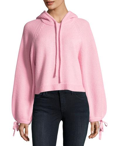 Barbour Wool Knit Pullover Hoodie