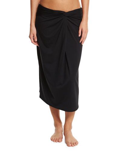 Front-Twist Coverup Skirt
