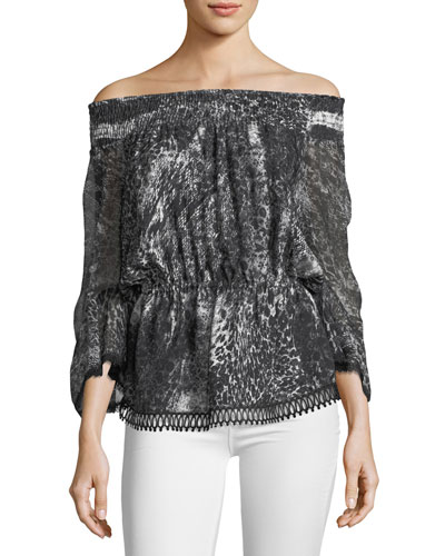 Zoia Off-the-Shoulder 3/4-Sleeve Top