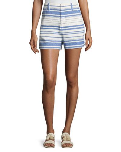 Eudocia Striped Cotton Shorts