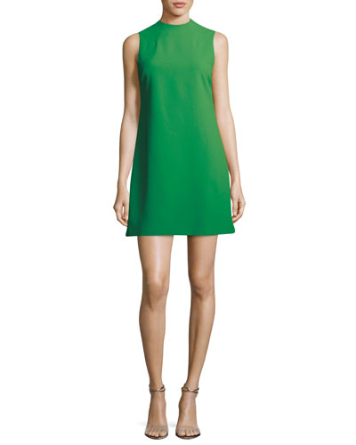 Coley Mock-Neck Sleeveless A-Line Dress