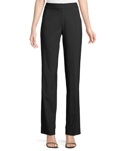 Leena Split-Cuff Wool-Blend Pants