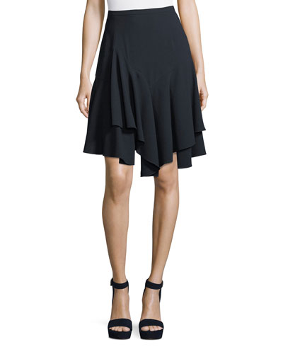 Payton Layered-Hem A-Line Skirt