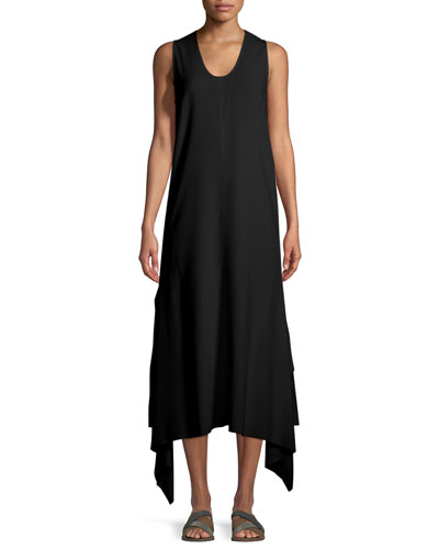 Reid Asymmetric-Hem Tank Dress