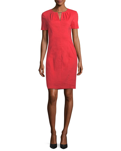 Lucetta V-Neck Short-Sleeve Dress