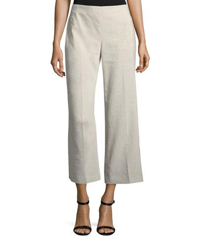 Odette Cropped Straight-Leg Pants