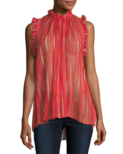 Lucy Striped Silk Blouse