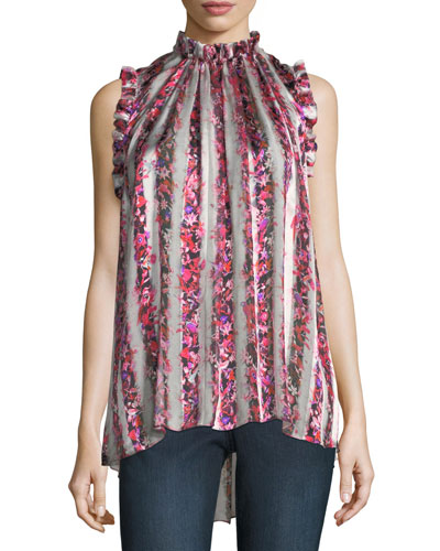Lucy Silk Sleeveless Top