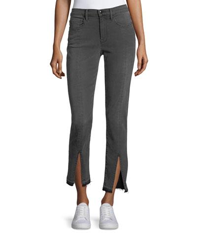 Le Nouveau Straight-Leg Split-Front Jeans