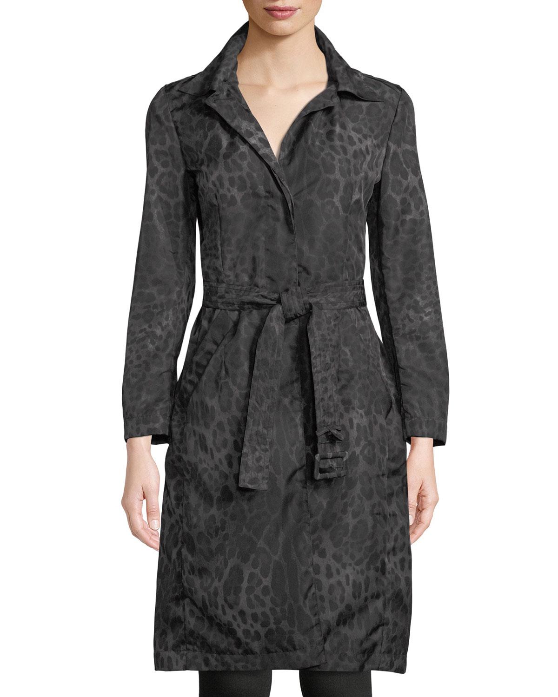 Bev Hooded Leopard-Print Coat