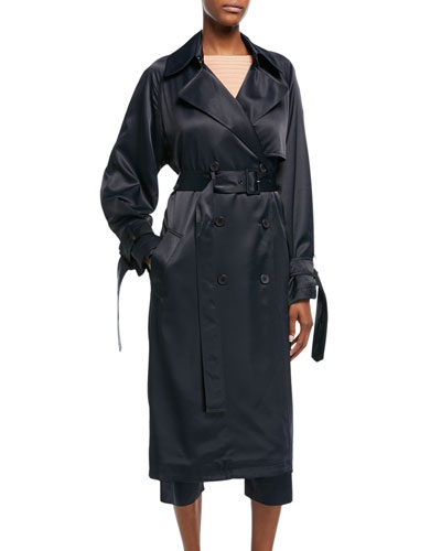 Drapey Belted Trench Coat