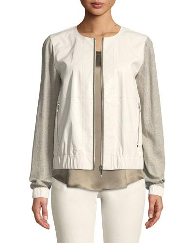 Aviana Laminated Leather Jacket