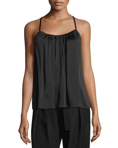 Gathered Scoop-Neck Camisole Top