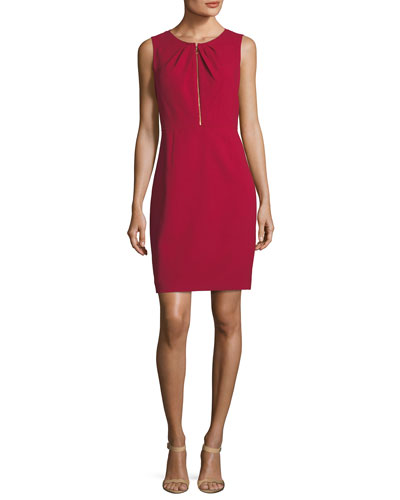 Jadea Sleeveless Zip-Front Dress