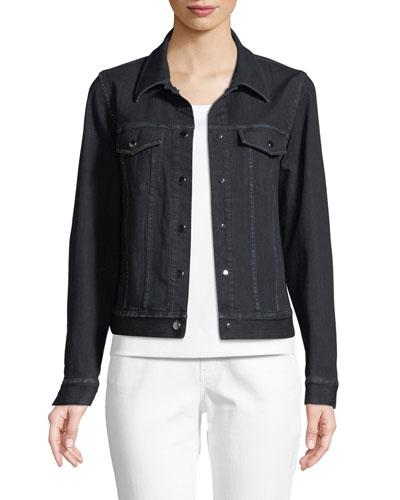 Destiny Prestige Denim Snap-Front Jacket