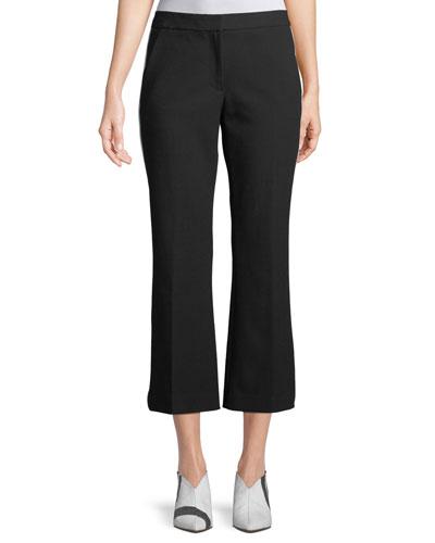 Anson Crop Crepe Pants w/ Tux Stripe