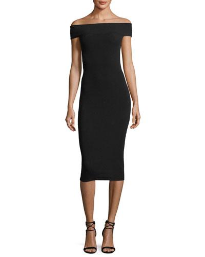 Bandeau Off-the-Shoulder Dress